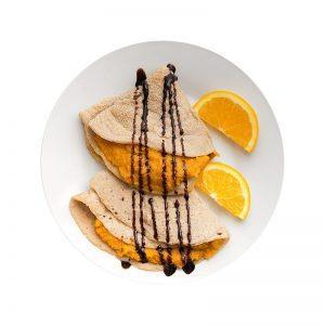 Naleśniki gryczane z nadzieniem dyniowo-pomarańczowym
