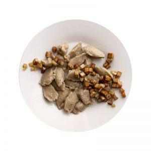 Kluski ziemniaczane z okrasą