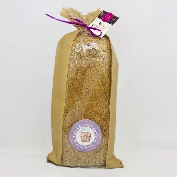 Bezglutenowy i wegański chleb gryczany na drożdżach