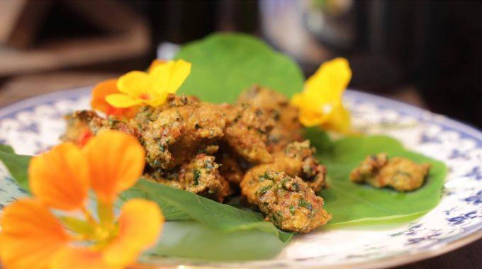 Marchewkowe kluski z pesto bezglutenowa kuchnia wegańska Atelier Smaku