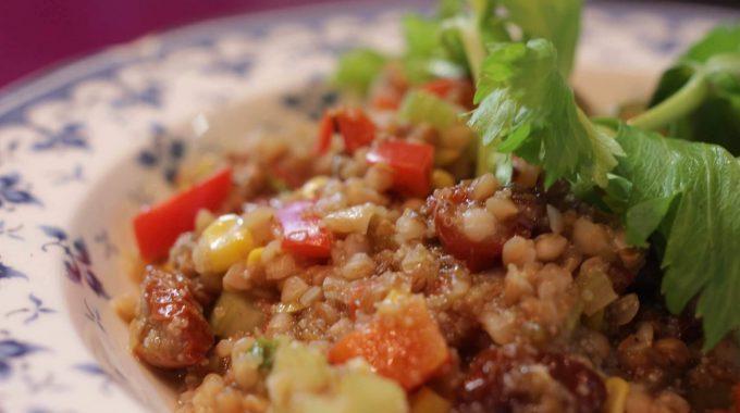 Kaszotto z amarantusem bezglutenowa kuchnia wegańska Atelier Smaku