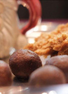 Chałwa karobowa bezglutenowa kuchnia wegańska Atelier Smaku
