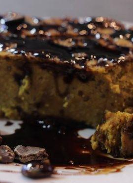 Kawowy krem balsamiczny z karobem bezglutenowa kuchnia wegańska Atelier Smaku