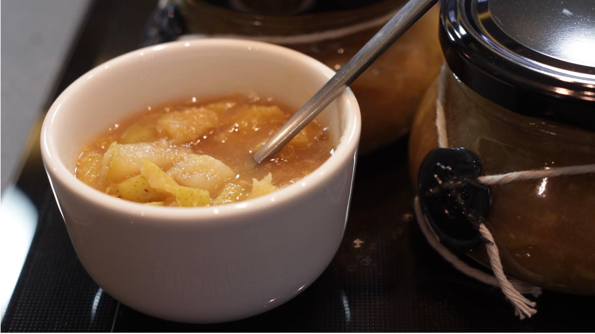 Dżem gruszkowo-cytrynowy bezglutenowa kuchnia wegańska Atelier Smaku