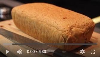267YT Bezglutenowy i wegański chleb ryżowy na drożdżach