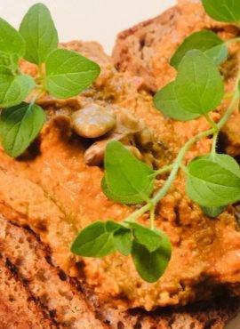 Pasta warzywno-orzechowa bezglutenowa kuchnia wegańska Atelier Smaku