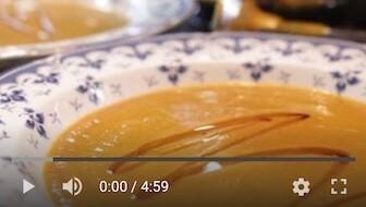 148YT Bezglutenowa i wegańska zupa krem z dyni