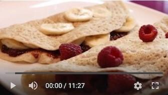 31YT Bezglutenowe i wegańskie naleśniki z nadzieniem jabłkowo bananowym