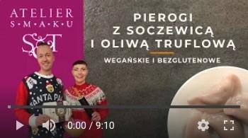 368YT Bezglutenowe i wegańskie pierogi z soczewicą i oliwą truflową 400g (10 szt.)