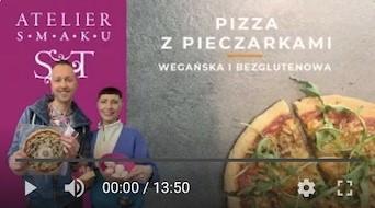 384YT Bezglutenowa i wegańska pizza z pieczarkami
